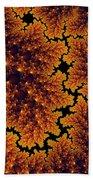 Golden And Black Fractal Universe Bath Towel