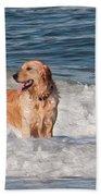 Golden At The Beach Oil Bath Towel