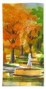 Golden Autumn Day Bath Towel