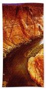 Golden Canyon Bath Towel