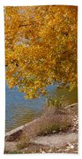 Golden Cottonwoods Bath Towel