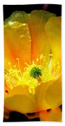 Golden Desert Flower Bath Towel