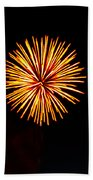Golden Fireworks Flower Bath Towel