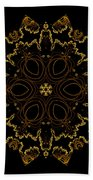 Golden Flower Of The Night Bath Towel