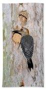 Golden-fronted Woodpecker Bath Towel