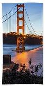 Golden Gate Night Bath Towel