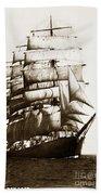 Golden Gate Tall Ship Circa 1905 Bath Towel