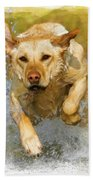 Golden Labrador Bath Towel