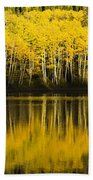 Golden Lake Bath Towel
