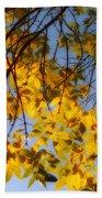 Golden Leaf Cascade Bath Towel