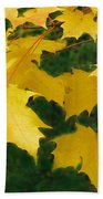 Golden Leaves Floating Bath Towel