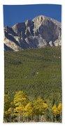 Golden Longs Peak View Bath Towel