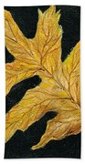 Golden Oak Leaf Bath Towel