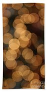Golden Orbs Bath Towel