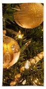 Golden Ornaments Bath Towel