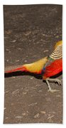 Golden Pheasant Pair Bath Towel
