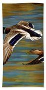 Golden Pond Hand Towel by Crista Forest