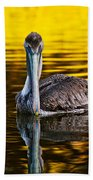 Golden Reflections Bath Towel