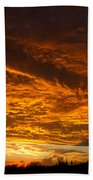 Golden Saguaro Bath Towel