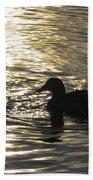 Golden Silhouette  Bath Towel