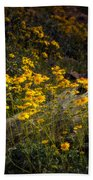 Golden Spring Flowers  Bath Towel