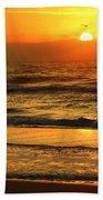Golden Sun Up Reflection Bath Towel