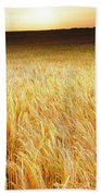 Golden Sunset Bath Towel