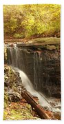 Golden Waterfall October In Ohio Bath Towel