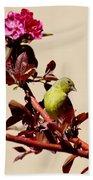 Goldfinch In Tree 031015a Bath Towel