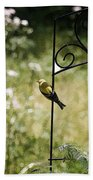 Goldfinch On The Lookout -19 Bath Towel