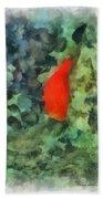 Goldfish Photo Art 04 Bath Towel