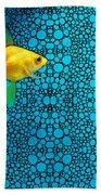 Goldfish Study 3 - Stone Rock'd Art By Sharon Cummings Bath Towel