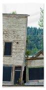 Goldrush Heritage Buildings In Dawson City Yukon Bath Towel