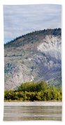Goldrush Town Dawson City From Yukon River Canada Bath Towel