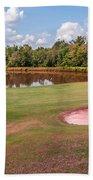 Golf Course Beautiful Landscape On Sunny Day Bath Towel
