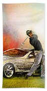 Golf In Gut Laerchehof Germany 03 Hand Towel