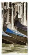 Gondolas-in-waiting   Venice Bath Towel