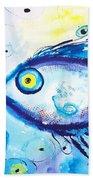 Good Luck Fish Abstract Bath Towel