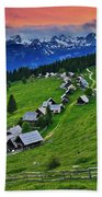 Goreljek Shepherding Village In Alpine Hand Towel