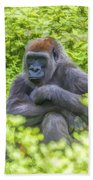 Gorilla Resting Bath Towel
