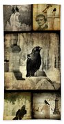 Gothic And Crows Bath Towel
