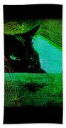 Gothic Black Cat Bath Towel