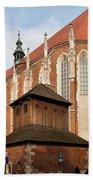 Gothic Church Of St. Catherine In Krakow Bath Towel