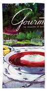 Gourmet Cover Featuring A Bowl Of Borsch Hand Towel