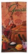 Gourmet Cover Featuring A Casserole Pot Bath Towel
