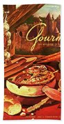 Gourmet Cover Featuring A Pot Of Stew Bath Towel