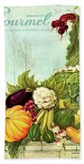 Gourmet Cover Illustration Of A Cornucopia Hand Towel