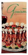 Gourmet Cover Illustration Of A Crown Roast Hand Towel