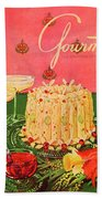 Gourmet Cover Illustration Of A Molded Rice Bath Towel