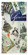 Gourmet Cover Illustration Of Drawings Portraying Bath Towel